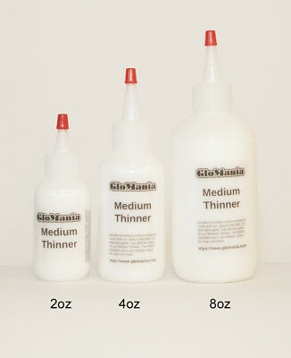 Acrylic GloMania Standard Thinner Extender Airbrush and Material medium thinners