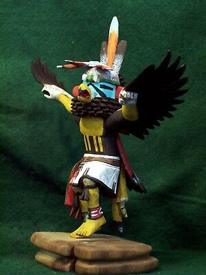 Hopi Kachina Doll - Kwahu, the Eagle Dancer - Spectacular!