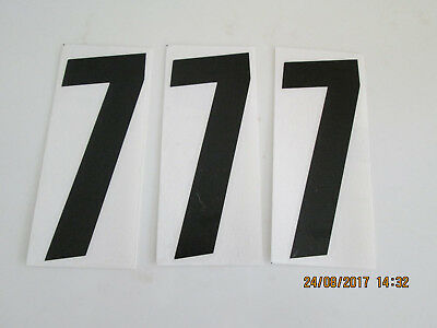 "(3) ""7's"" 6"" Motocross Flat Track Dirt Sprint Kart NUMBERS"