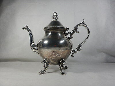 Vintage Silver On Copper Birmingham Silver Co. Antique Coffee Pot With Top