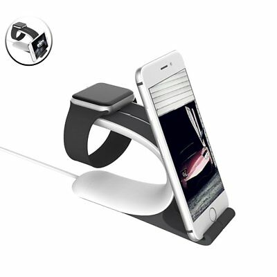 2-in-1 Apple Watch Stand Charging Docking Station iWatch 38Mm 42mm iPhone Holder