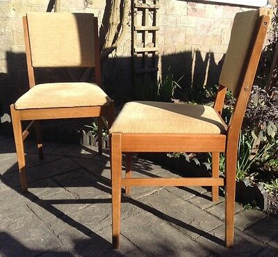 Pair Of Mid Century Modern Dining Chairs By Gordon Russell Of Broadway