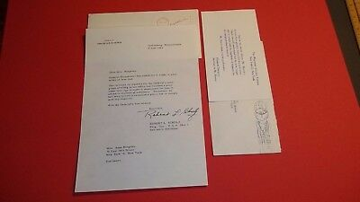 ~Autograph Request DECLINE Letters from GENERAL EISENHOWER & HERBERT HOOVER 1964
