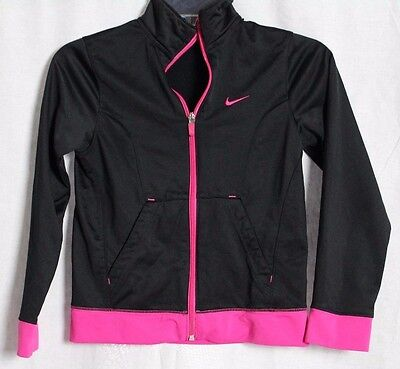 Nike Sports Cute Black Pink Long Sleeve Kid's  Sweater Size M