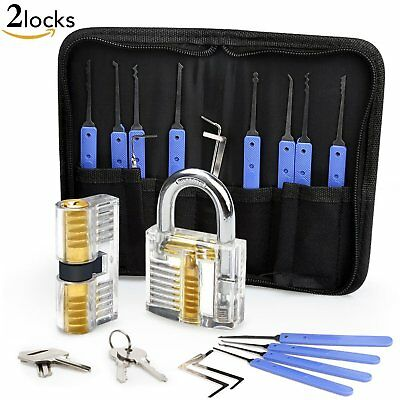 Set Fabbro Eventronic Kit +PDF da 17 Grimaldelli Lock Picking con 2 Trasparente