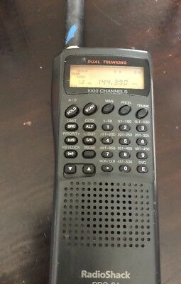 RADIO SHACK PRO-94 Dual Trunking 1000 Channel Handheld Scanner Police Fire