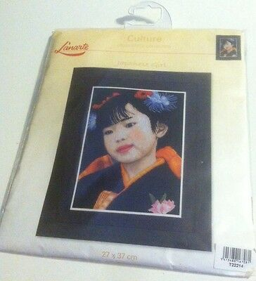 Lanarte Japanese Girl Culture Counted Cross Stitch Kit New PIN