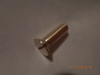 "BRASS FLAT HEAD SLOTTED MACHINE SCREW 5/8-11 x 2"" SOLID BRASS 1 PC. NEW-NOS"