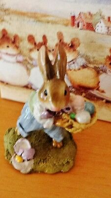 Wee Forest Folk B-17  Easter Bunny  RETIRED Mint