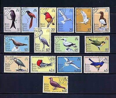 British Indian Ocean #63-77 (BR423) Complete 1975 Birds, Used, FVF, CV$79.75