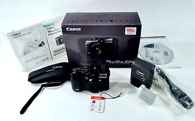 Canon PowerShot G10 14.7MP Digital Camera - Black With Extras EXCELLENT
