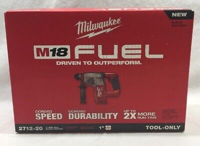 "Milwaukee M18 Fuel 2712-20 1"" Sds Plus Rotary Hammer Drill Tool Only New"