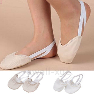 Canvas Half Leather Sole Shoes Ballet Rhythmic Gymnastics Belly Dance Slippers
