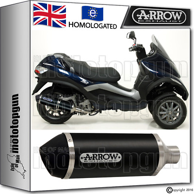 Arrow Silencer Urban Aluminium Dark Hom Piaggio Mp3 400 Lt 2009 09 2010 10