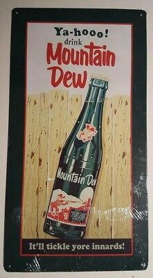 *NEW* Mountain Dew ~ It'll Tickle yore Innards! Metal Sign.