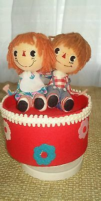 VINTAGE 1973 Raggedy Ann & Andy  Music Box