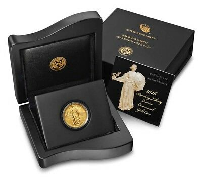 2016-W Gold Standing Liberty Quarter 100th Anniversary Mint Special Issue