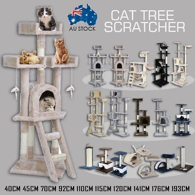 Cat Tree Scratching Post Scratcher Pole Gym Toy House Furniture Multi Level ADA