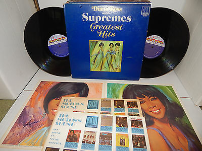 SUPREMES GREATEST HITS Diana Ross 1967 MOTOWN 2-663 DOUBLE LP & POSTER EXC SOUL