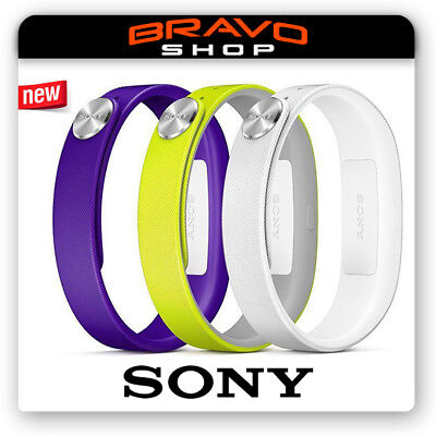 Official Sony Smart-Band/Wrist Strap Set/Pack Purple/Yellow/White Large SWR110