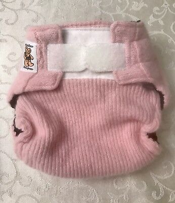 Handmade Babywear Wool Wrap Diaper Cover, Mama Bear