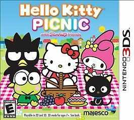 Hello Kitty Picnic With Sanrio Friends Nintendo 3DS Brand New Sealed Game Case