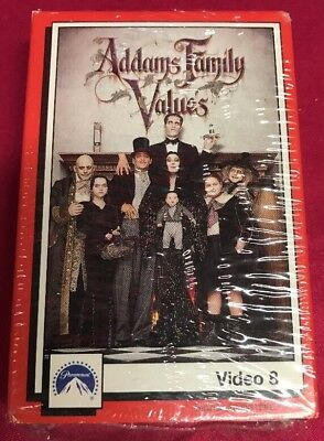 New Adams Family Values Video 8 Cassette Tape
