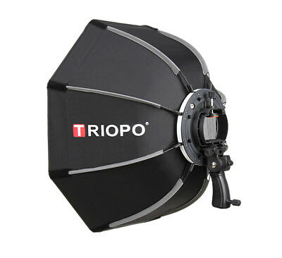 Triopo 65cm Octagon Umbrella Softbox for Speedlight Flash with Handgrip Outdoor