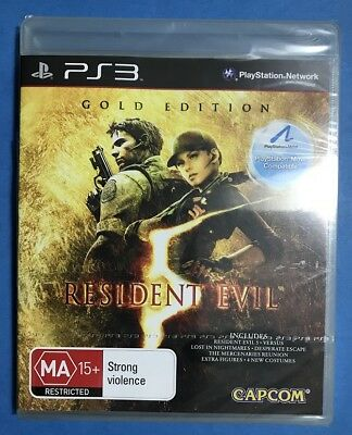 RESIDENT EVIL 5 Gold Edition PS3 game Capcom NEW SEALED w/add-on extras AUS MA15