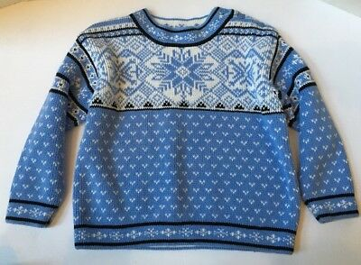 Hanna Andersson Nordic Blue Snowflake Sweater Boys 100 Holiday
