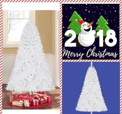 New Holiday Time Unlit 6.5' Jackson Spruce White Artificial Christmas Tree