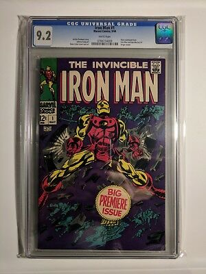 The Invincible Iron Man #1 CGC 9.2 NM- WHITE PAGES 1968