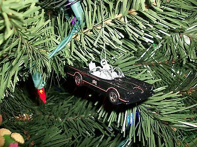 Christmas tree ornament. Classic Batmobile Batman