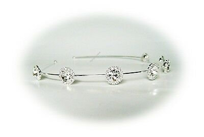 A New Handmade Gorgeous Sparkling Crystals Dazzling Flowers Bridal Headband