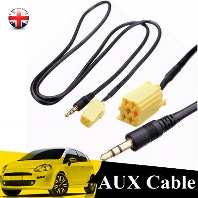 For Fiat Grande Punto 3.5mm Radio AUX Input Audio Jack Plug Cable Lead Adapter