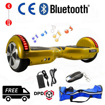 Smart Overboard Self Balancing Scooter Electric E-Balance Gold Hoverboard