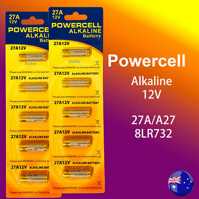 10 x 27A Powercell 12V 27A/A27 Battery Batteries Garage Car Remote Alarm