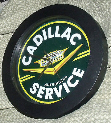 "9 3/4"" CADILLAC SERVICE CLOCK working"