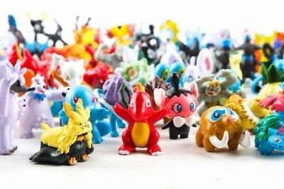24-144Pcs Pokemon Go Pocket Monster Mini Pearl Action Figures Kid Toys Gift Lot