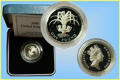 GB. 1 Pound 1990 Silver proof