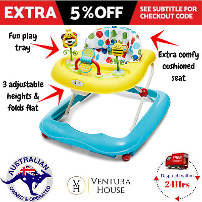 Baby Walker Adjustable Activity Learn Toddler New Travel Stroller Push Toys Fun
