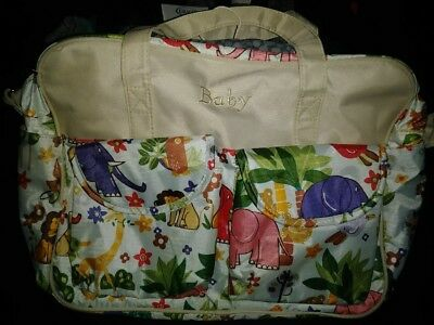 """Baby"" Jungle Themed Diaper Bag *Preowned* Baby Bag Animals Multi-color"