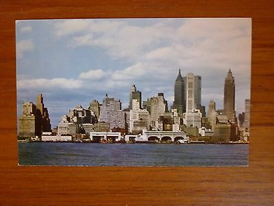 Ansichtskarte aus New York , Skyline von Lower Manhattan