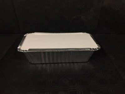 Aluminium Foil Containers & Lids No 6a (Large) x25/50/100/250/500 Takeaway Food