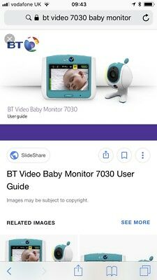 BT 7030/7500 Video Baby Monitor Bundle, lcd screen & 2 camera's