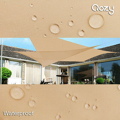 Qozy Waterproof canopy shade sail patio pool garden UV Square Rectangle Sand