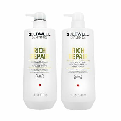 GOLDWELL DUALSENSES RICH REPAIR Aufbau Shampoo 1l + Conditioner 1l für strapazie
