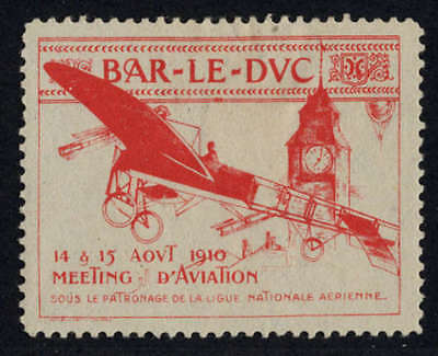 "LUFTFAHRT & ZEPPELIN VIGNETTE: Bar-Le-Duc - 1910. Werbevignette des ""Bar-L -1069"