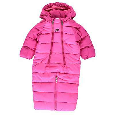 Nike Baby Pink Snowsuit Warm Set Top Bottoms Size 9 - 12 Mnth RRP £54.99 B343