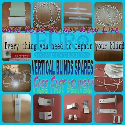 Vertical Blind Spare Parts Hangers, Weights, Chains, Brackets or Cord Weights